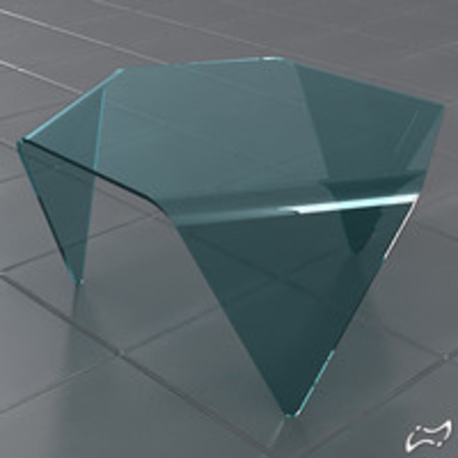 Exagonal table royalty-free 3d model - Preview no. 1