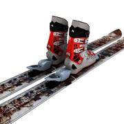 skis bindings boot 3d model
