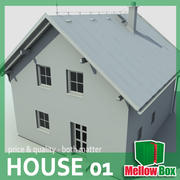 single family house 01 3d model