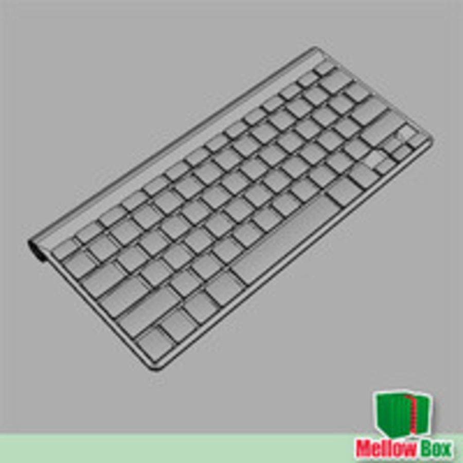 Mac wireless keyboard royalty-free 3d model - Preview no. 6