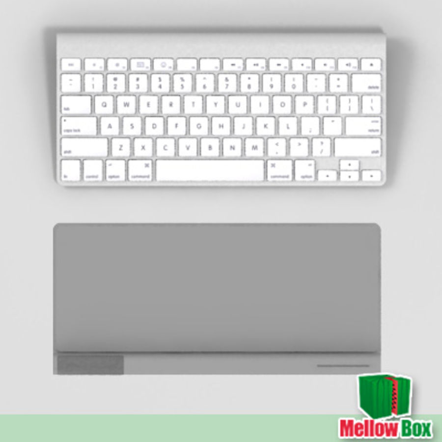 Mac wireless keyboard royalty-free 3d model - Preview no. 3