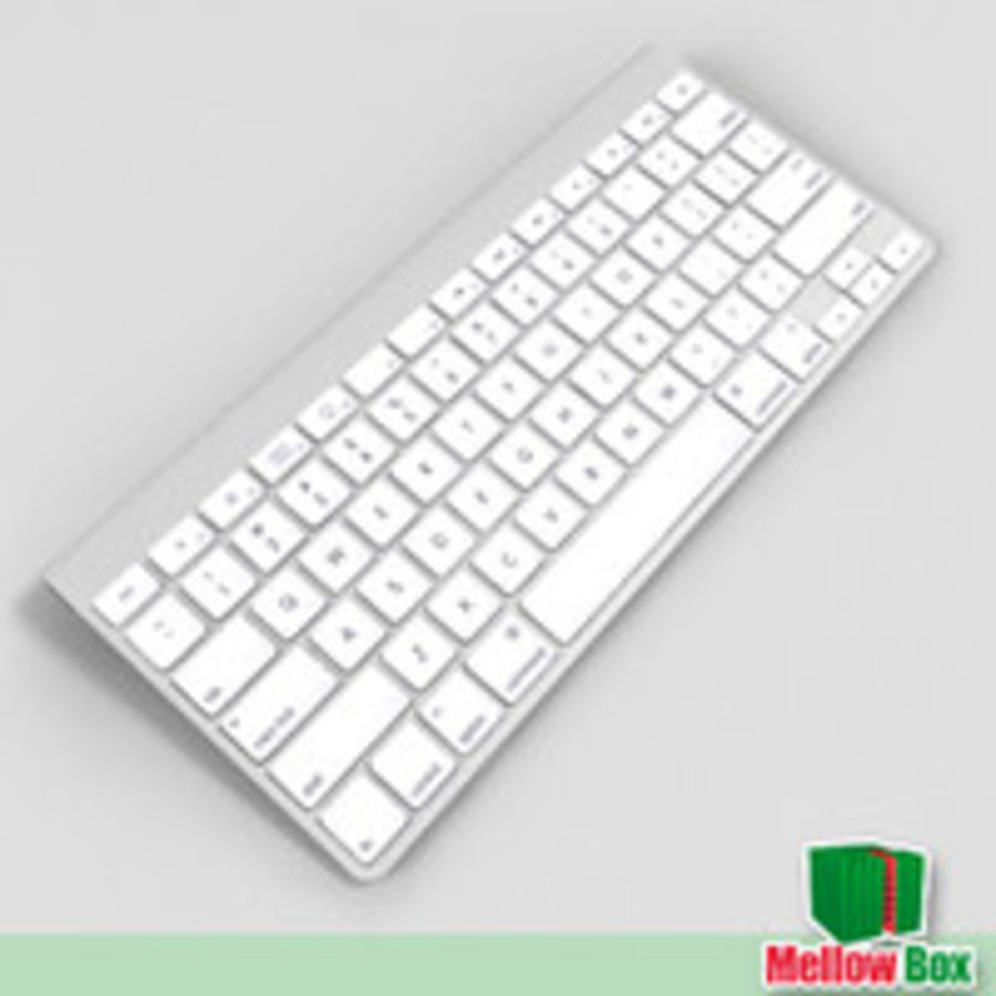 Mac wireless keyboard royalty-free 3d model - Preview no. 2