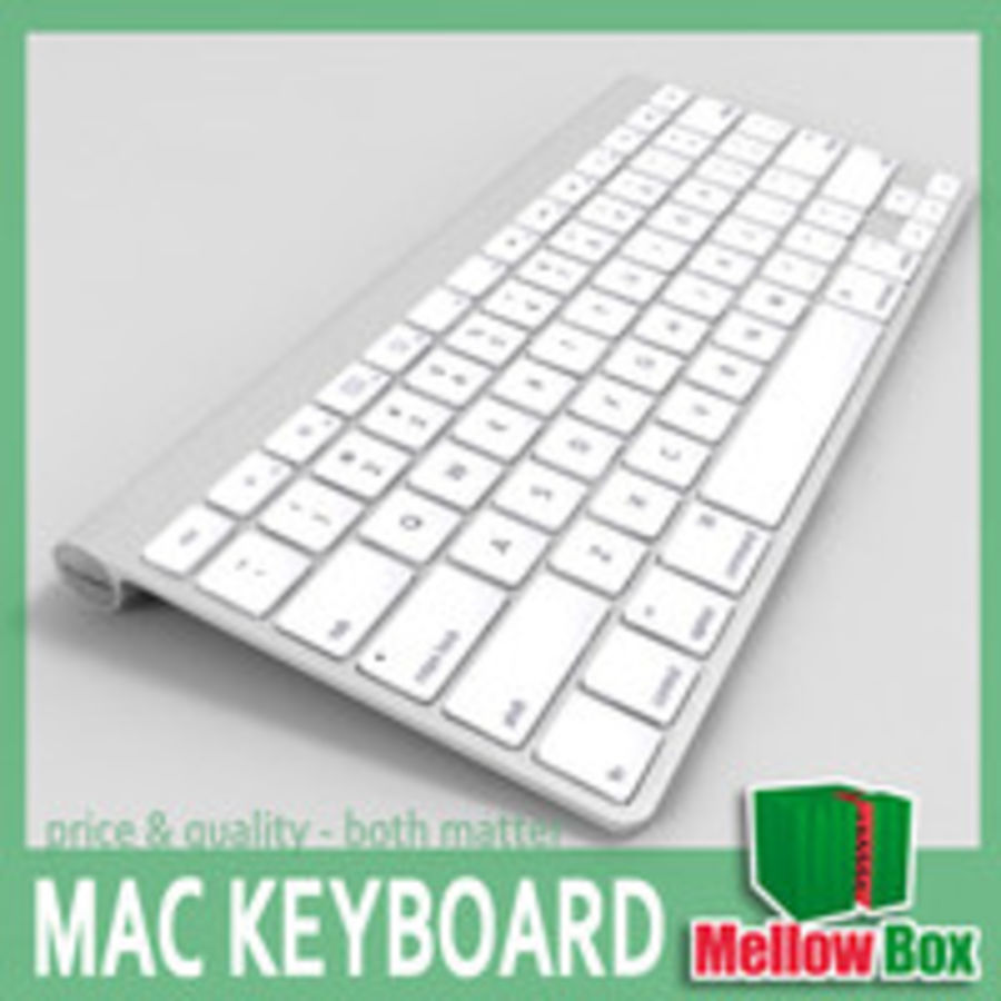 Mac wireless keyboard royalty-free 3d model - Preview no. 1