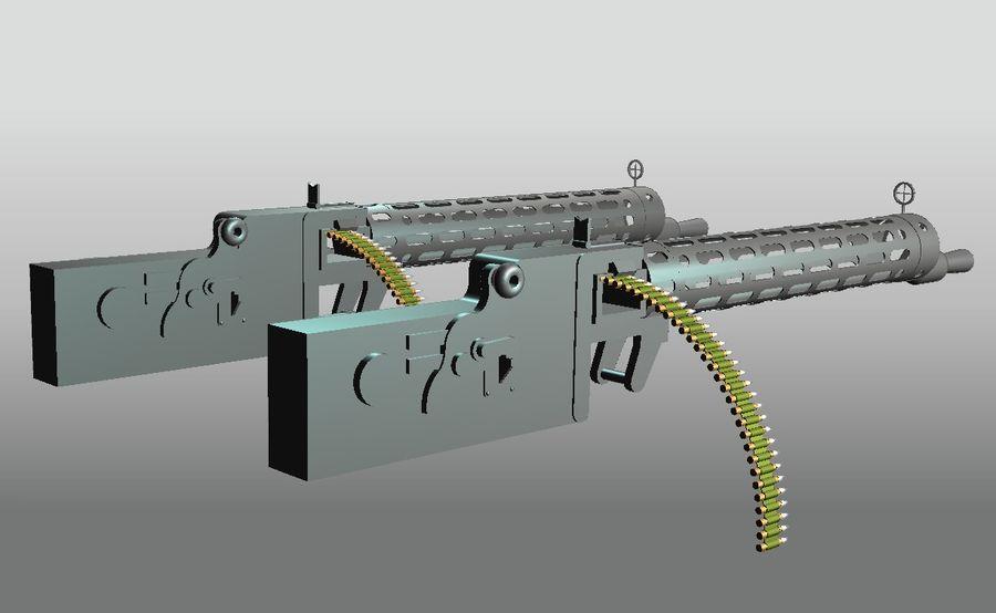 machgun.dwg royalty-free 3d model - Preview no. 2