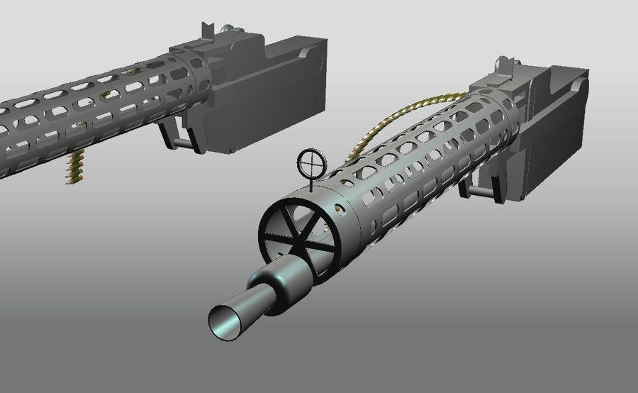 machgun.dwg royalty-free 3d model - Preview no. 1