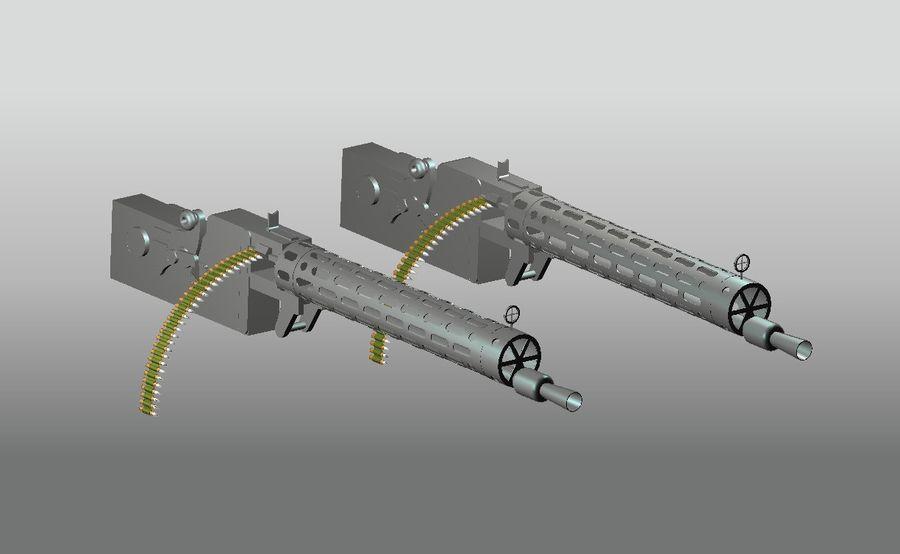 machgun.dwg royalty-free 3d model - Preview no. 3