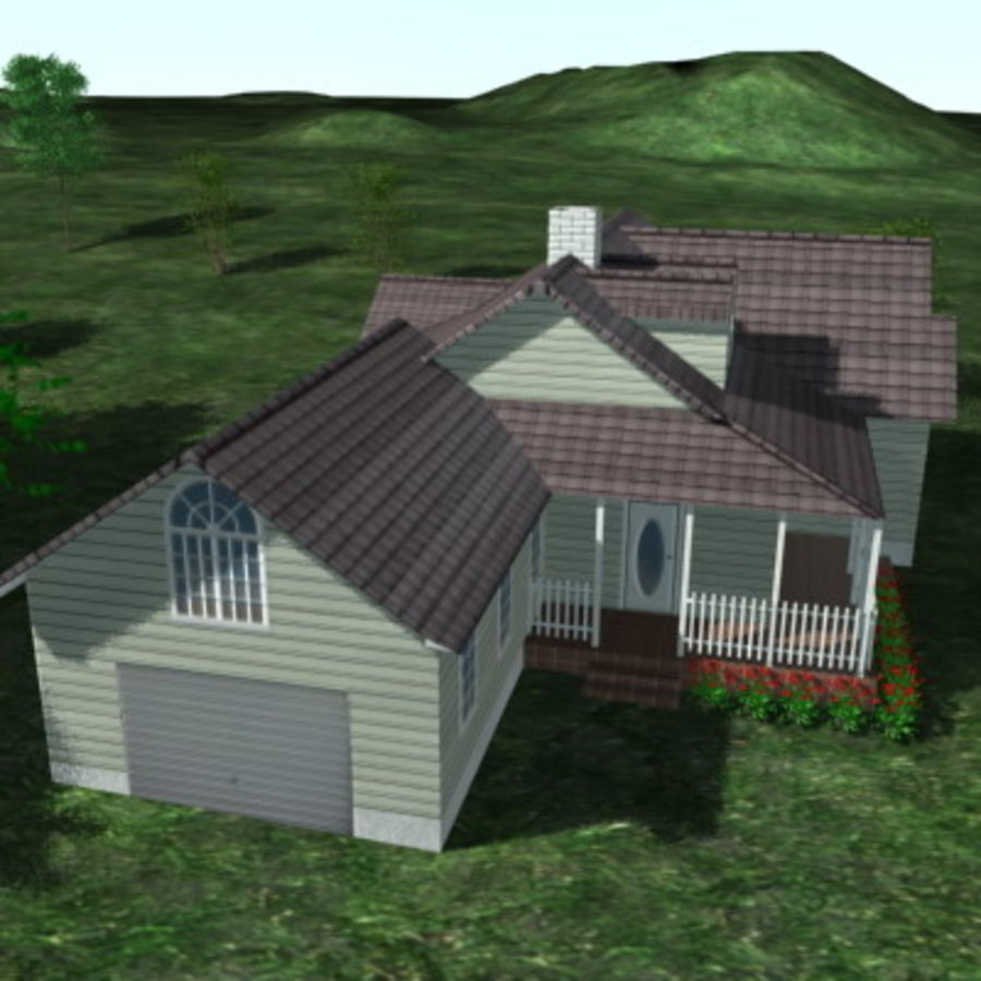 House_01.zip royalty-free 3d model - Preview no. 5