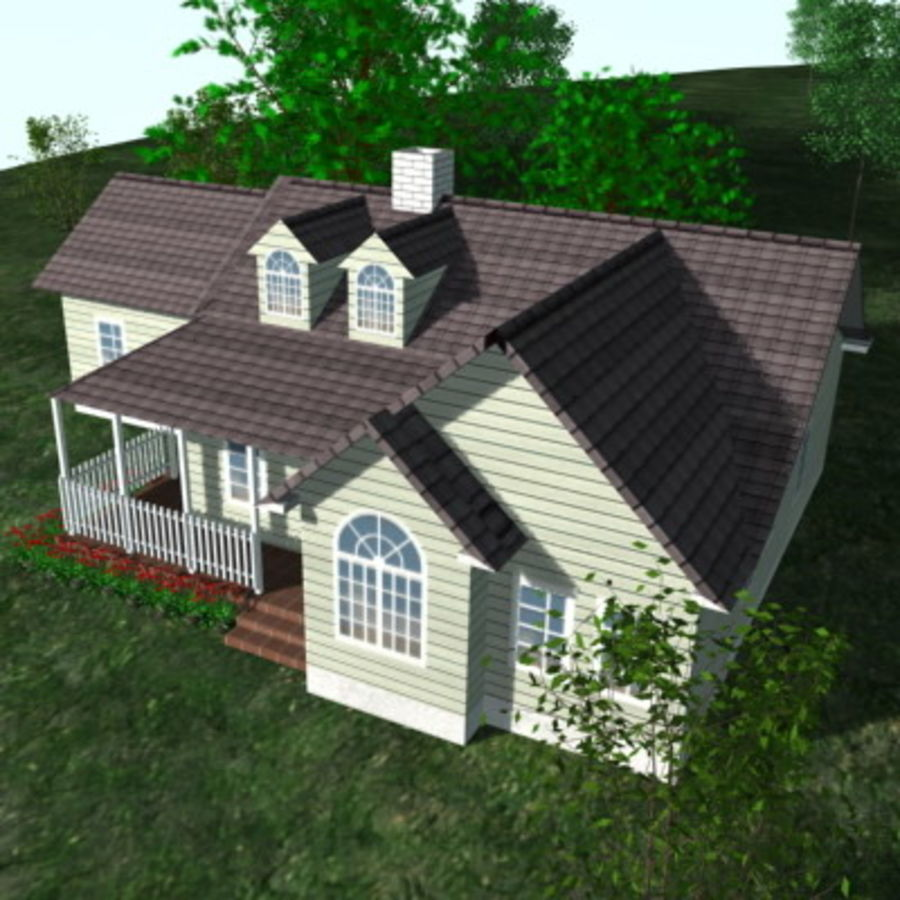 House_01.zip royalty-free 3d model - Preview no. 2