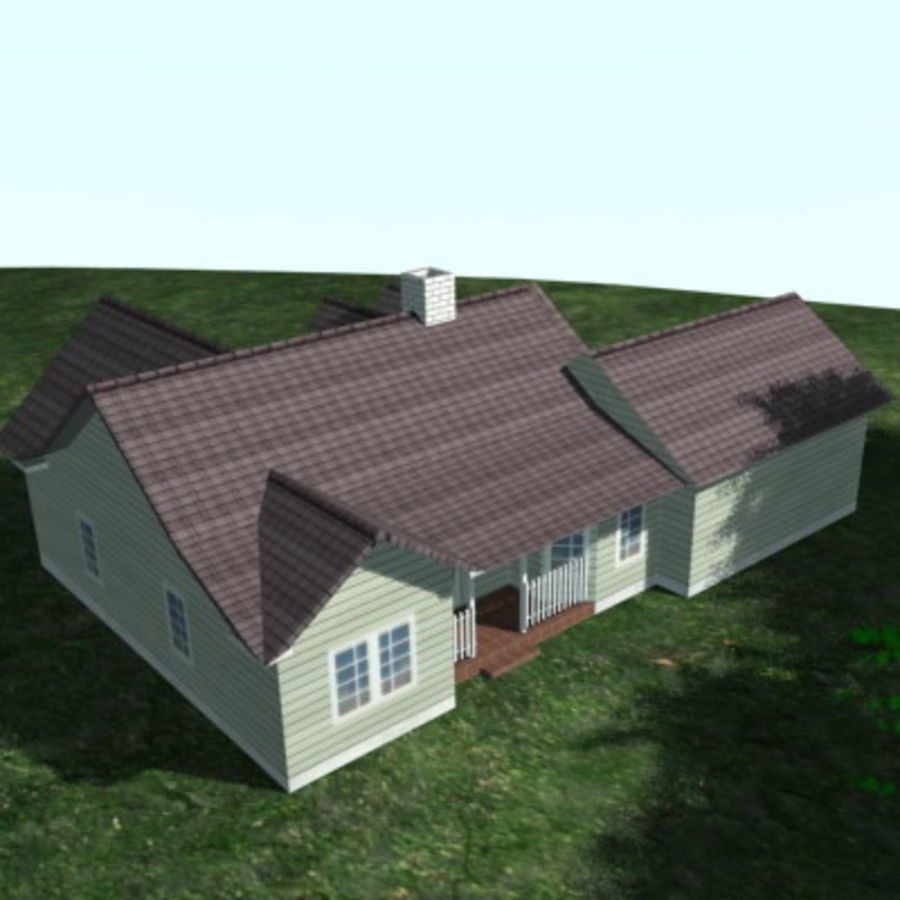 House_01.zip royalty-free 3d model - Preview no. 4