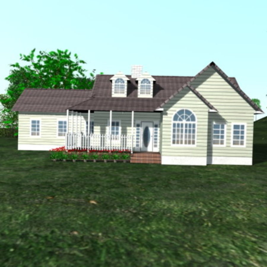 House_01.zip royalty-free 3d model - Preview no. 3