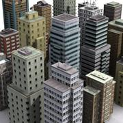 Textured Buildings 3d model