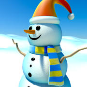 snowman cartoon 3d model