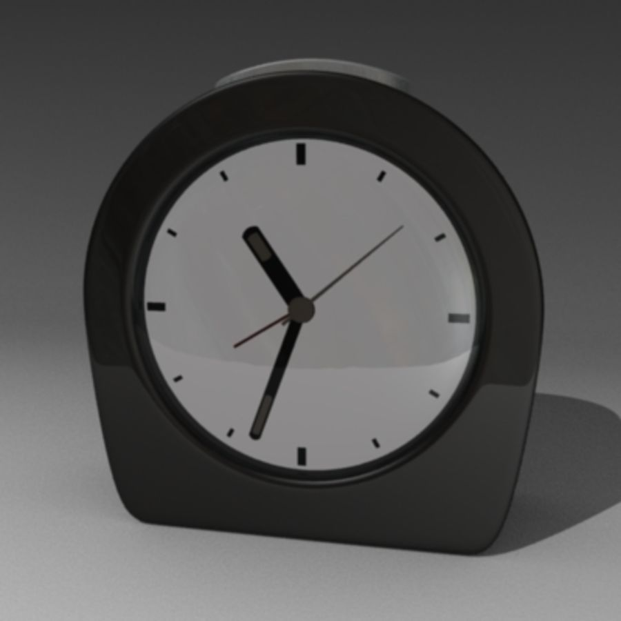 alarm clock 1.3ds royalty-free 3d model - Preview no. 3
