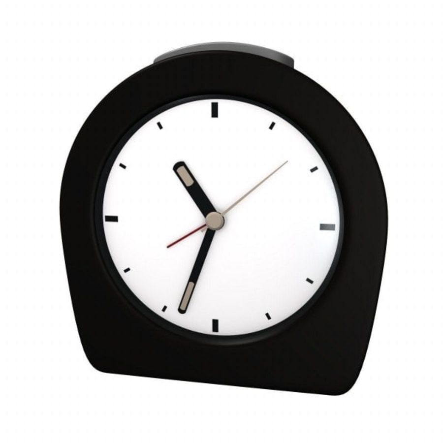 alarm clock 1.3ds royalty-free 3d model - Preview no. 1