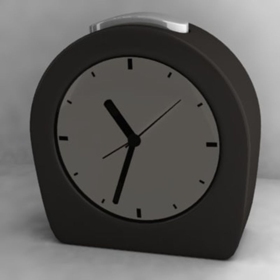alarm clock 1.3ds royalty-free 3d model - Preview no. 2