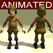 cartoon_soldier 3d model