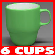 Cup Collection 3d model