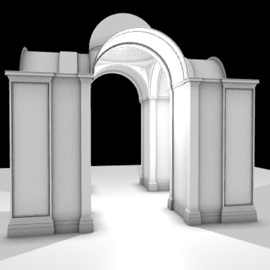 Iglesia.el3 royalty-free modelo 3d - Preview no. 12
