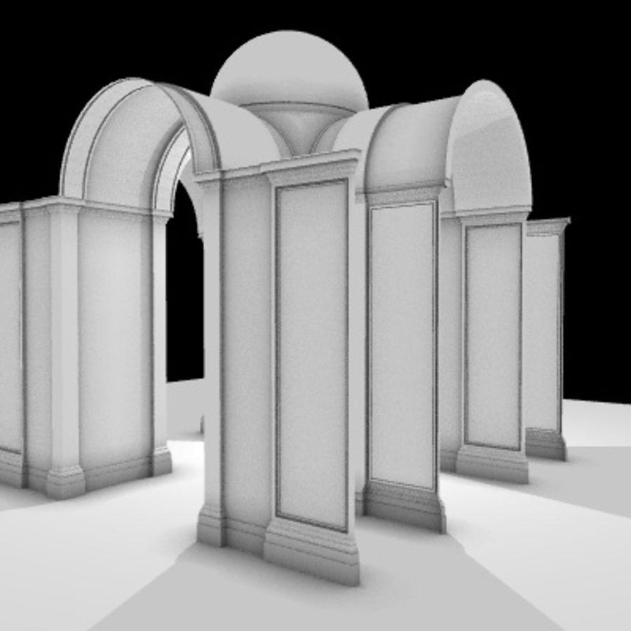 Iglesia.el3 royalty-free modelo 3d - Preview no. 31