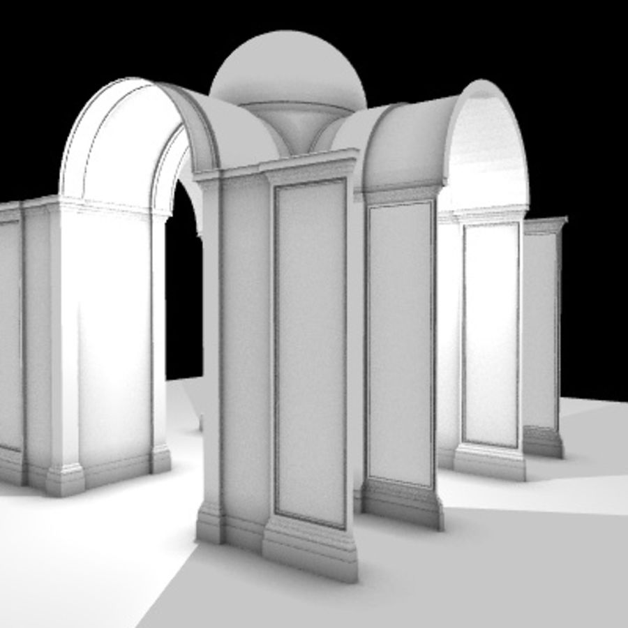 Iglesia.el3 royalty-free modelo 3d - Preview no. 15