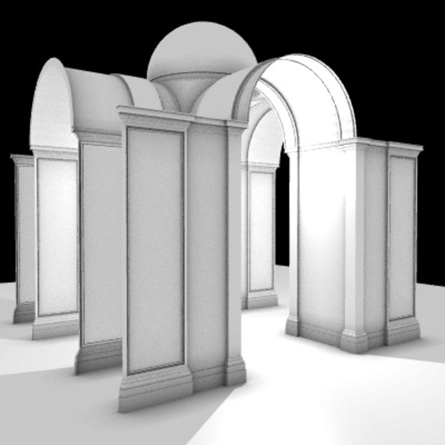 Iglesia.el3 royalty-free modelo 3d - Preview no. 11