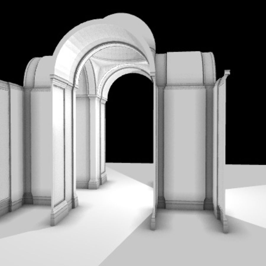 Iglesia.el3 royalty-free modelo 3d - Preview no. 7