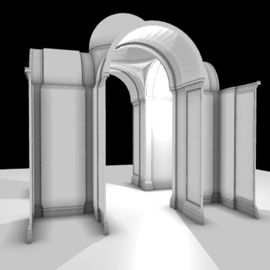Iglesia.el3 royalty-free modelo 3d - Preview no. 4