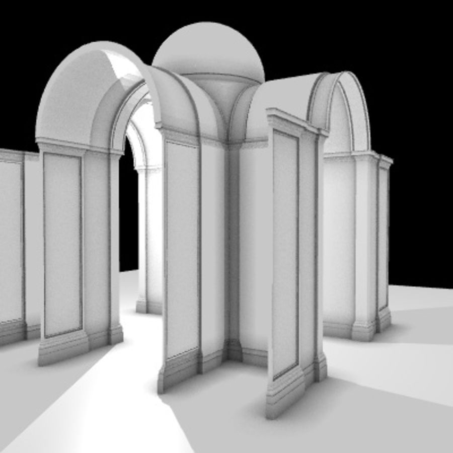 Iglesia.el3 royalty-free modelo 3d - Preview no. 23
