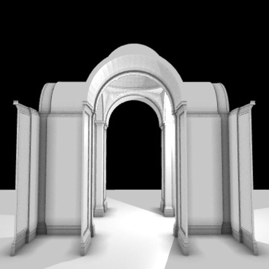 Iglesia.el3 royalty-free modelo 3d - Preview no. 37