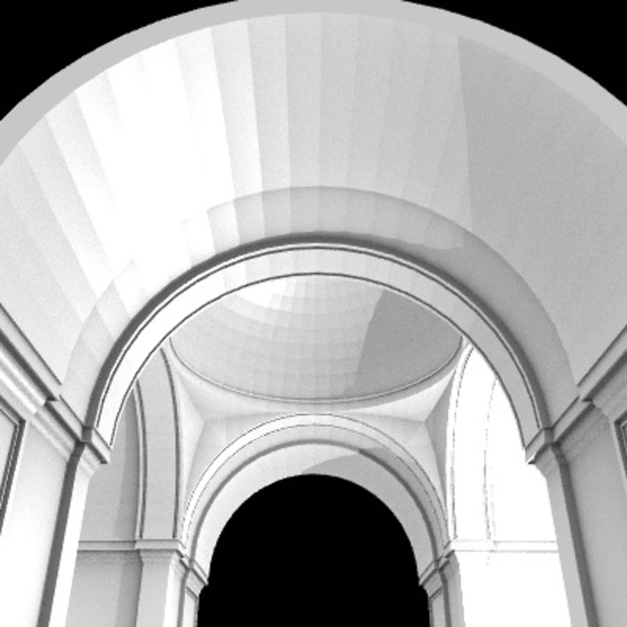Iglesia.el3 royalty-free modelo 3d - Preview no. 45