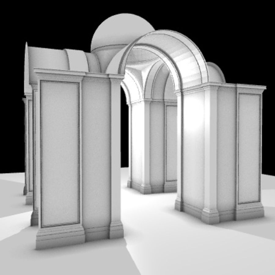 Iglesia.el3 royalty-free modelo 3d - Preview no. 26