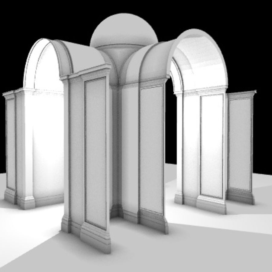 Iglesia.el3 royalty-free modelo 3d - Preview no. 69