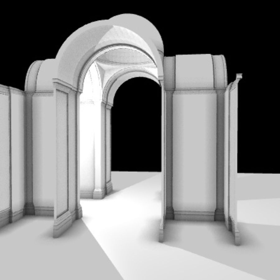 Iglesia.el3 royalty-free modelo 3d - Preview no. 21