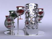 COCKTAIL SERVICE SET OCH GLASS 3d model