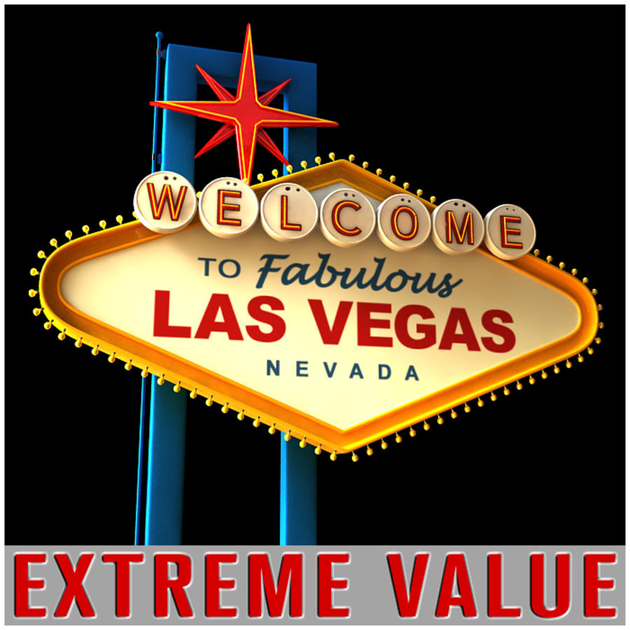Vegas Sign royalty-free 3d model - Preview no. 2