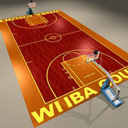 Basketball Court Women 3d model
