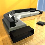 Canapé Moderne 3d model