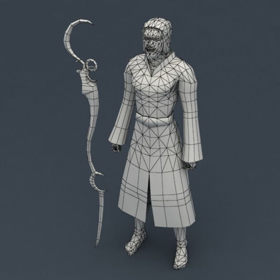 Fire Mage royalty-free 3d model - Preview no. 6