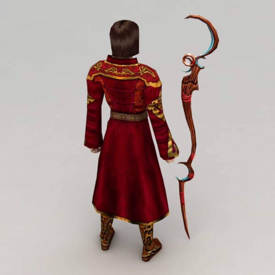 Fire Mage royalty-free 3d model - Preview no. 4