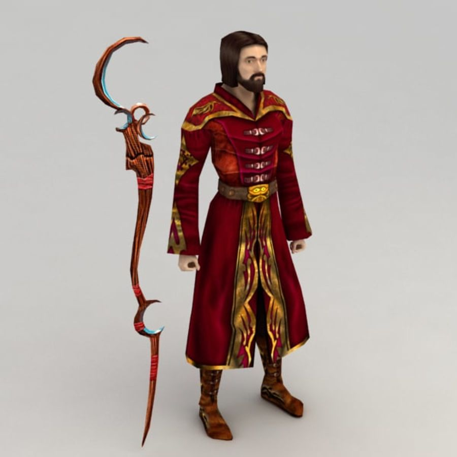Fire Mage royalty-free 3d model - Preview no. 1