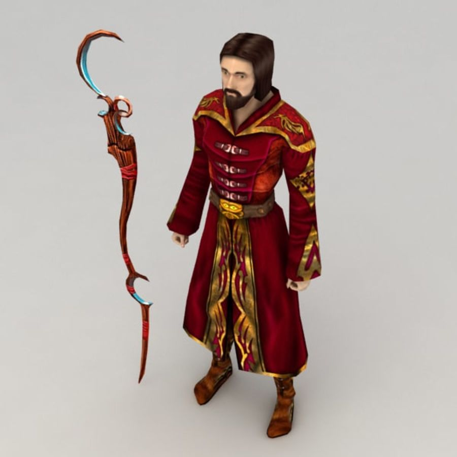 Fire Mage royalty-free 3d model - Preview no. 2