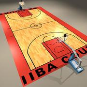 Officiel du terrain de basket 1 3d model