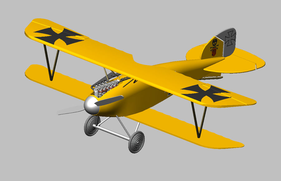 albatross diii.dwg royalty-free 3d model - Preview no. 2