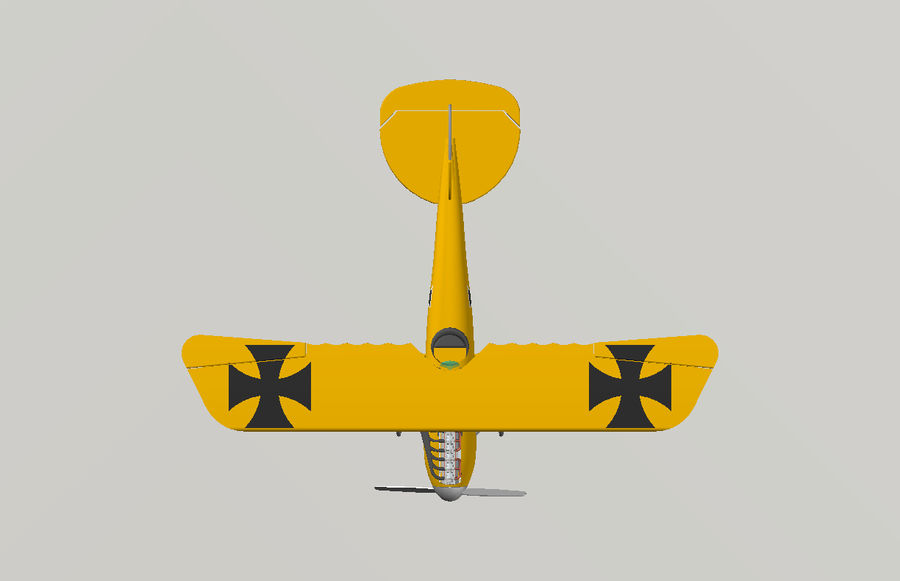 albatross diii.dwg royalty-free 3d model - Preview no. 6