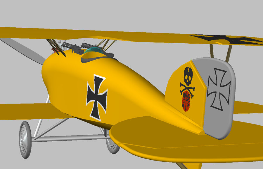 albatross diii.dwg royalty-free 3d model - Preview no. 4