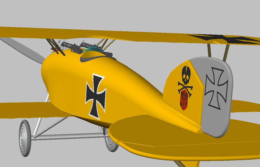 albatros diii.dwg royalty-free 3d model - Preview no. 4