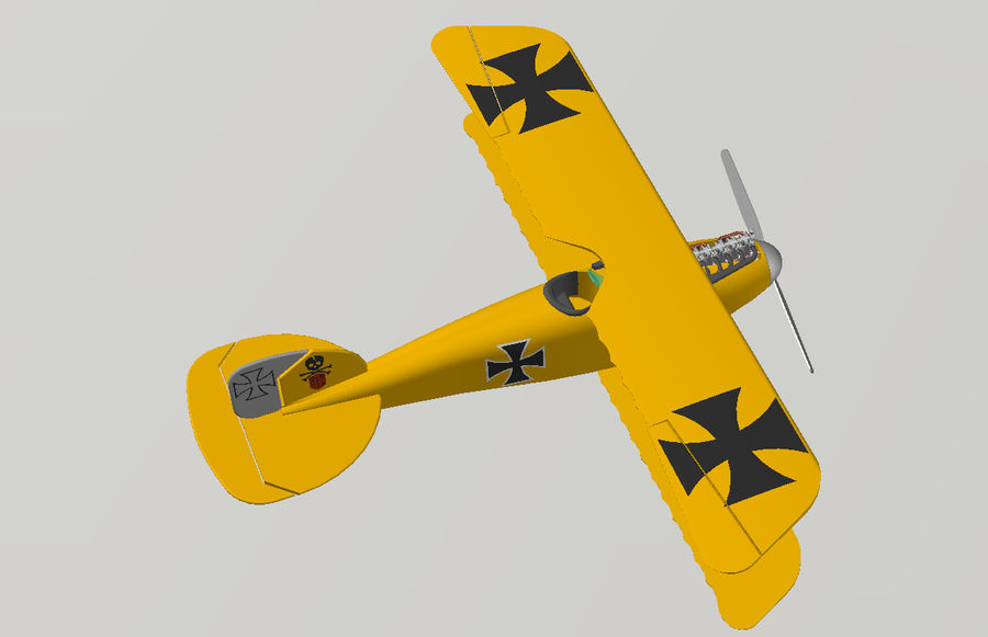 albatross diii.dwg royalty-free 3d model - Preview no. 7