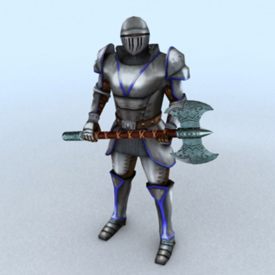 Medieval Warrior royalty-free 3d model - Preview no. 1
