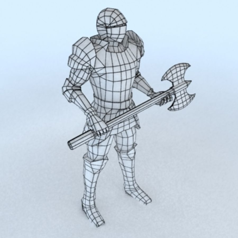 Medieval Warrior royalty-free 3d model - Preview no. 5