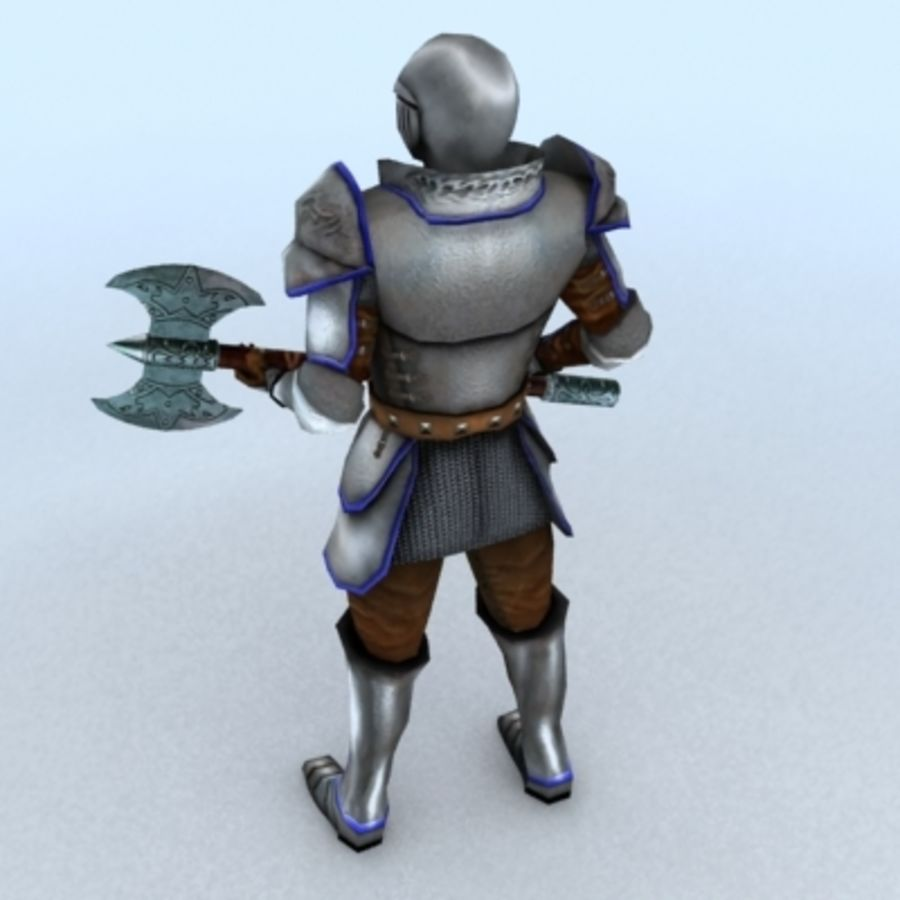 Medieval Warrior royalty-free 3d model - Preview no. 2